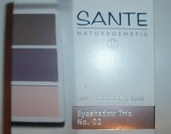 Produktbild zu SANTE Eyeshadow Trio – Farbe: 02 Aubergine