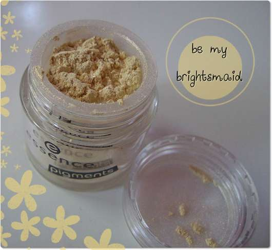 essence pigments, Farbe: 09 be my brightsmaid