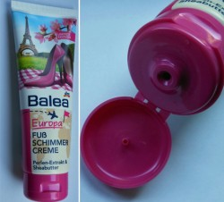 Produktbild zu Balea Europa Fußschimmercreme Perlen-Extrakt & Sheabutter (LE)