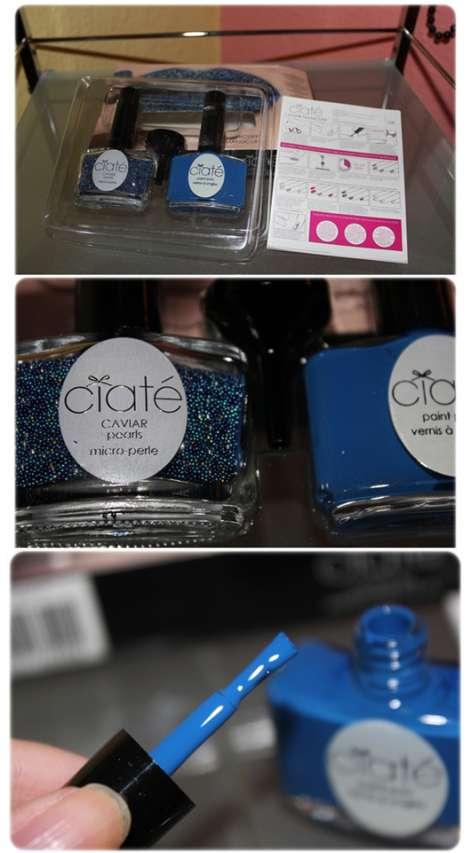 test nagellack ciat caviar manicure set farbe blau gelb testbericht von flattermais. Black Bedroom Furniture Sets. Home Design Ideas