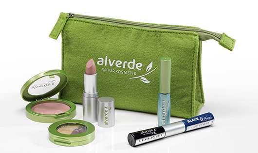 10 x 1 alverde NATURKOSMETIK Kosmetik-Tasche mit dekorativer Kosmetik zu gewinnen
