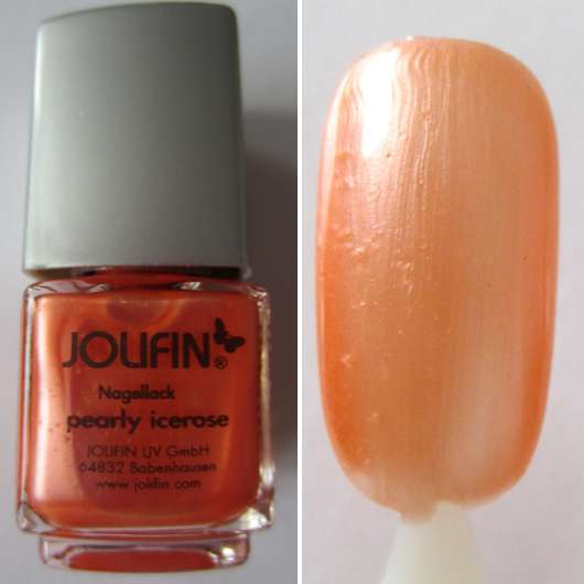 Jolifin Nagellack, Farbe: Pearly Icerose
