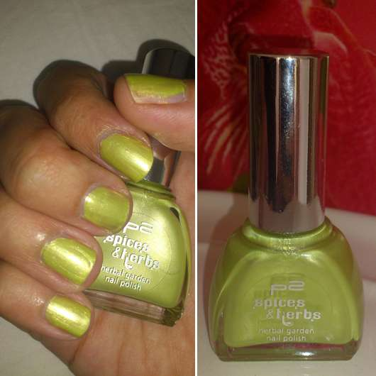 p2 spices & herbs herbal garden nail polish, Farbe: 010 anise (LE)