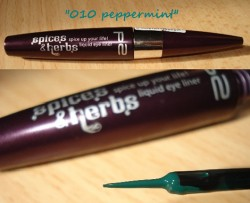 Produktbild zu p2 cosmetics spices & herbs spice up your life! liquid eye liner – Farbe: 010 peppermint (LE)