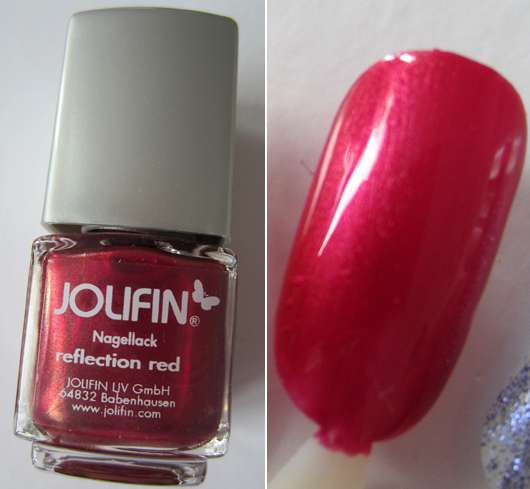 Jolifin Nagellack, Farbe: Reflection Red