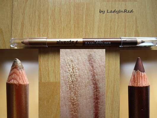 alverde Duo-Kajal-Eyeliner, Farbe: 20 Golden-Brown