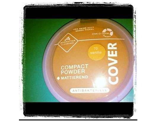 test puder manhattan clearface compact powder farbe 70 vanilla testbericht von sannylicious. Black Bedroom Furniture Sets. Home Design Ideas
