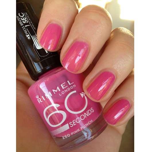 Rimmel London 60 Seconds Nailpolish, Farbe: 250 Pink Punch