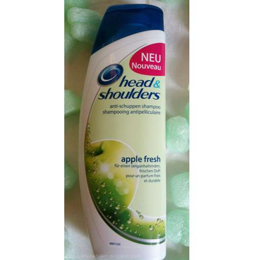 test shampoo head shoulders anti schuppen shampoo apple fresh testbericht von allwhatiam. Black Bedroom Furniture Sets. Home Design Ideas