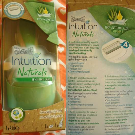 Test - Haarentfernung - Wilkinson Sword Intuition Naturals