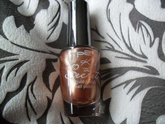 p2 keep the secret liquid metal nail polish, Farbe: 010 molten bronze (LE)