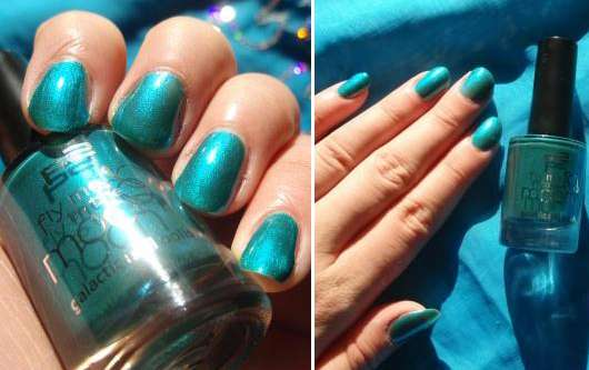 p2 fly me to the moon galactic nail polish, Farbe: 030 turquoise galaxy (LE)