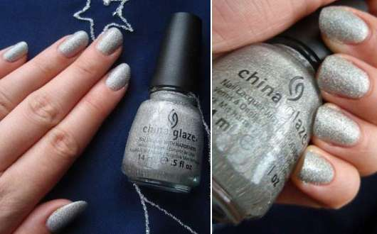 China Glaze Nail Lacquer With Hardeners, Farbe: 1118 Glistening Snow (LE)