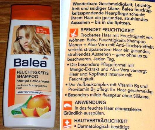 Balea Feuchtigkeits-Shampoo Mango + Aloe Vera (trockenes und strapaziertes Haar)