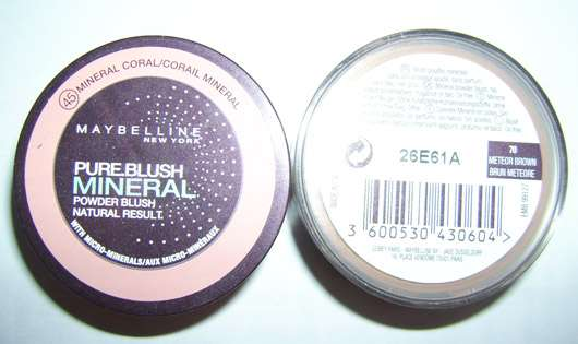 Maybelline New York Pure Blush Mineral Powder Blush, Farbe: 45 Mineral Coral