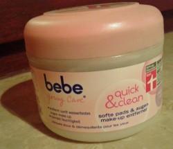 Produktbild zu bebe® Young Care quick & clean softe pads & augen make-up entferner