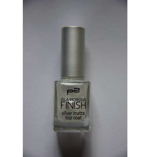 p2 glamorous finish silver matte top coat, Farbe: 050 get fancy!