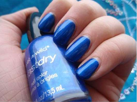 wet n wild fast dry nail color, Farbe: E230C saved by the blue