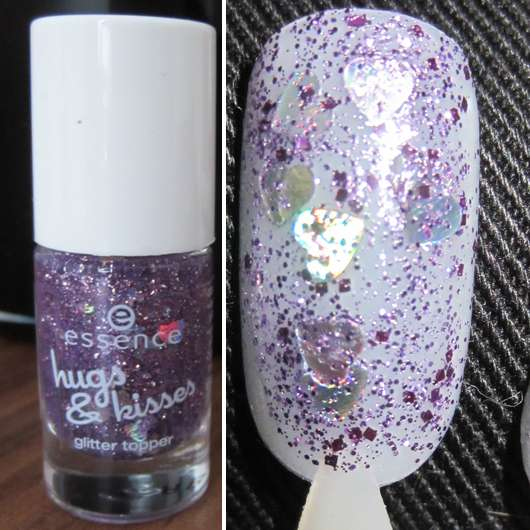 essence hugs & kisses glitter topper, Farbe: 03 crazy in love (LE)