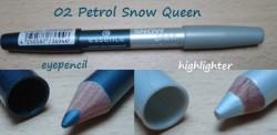 Produktbild zu essence snow jam jumbo duo eyepencil – Farbe: 02 petrol snow queen (LE)
