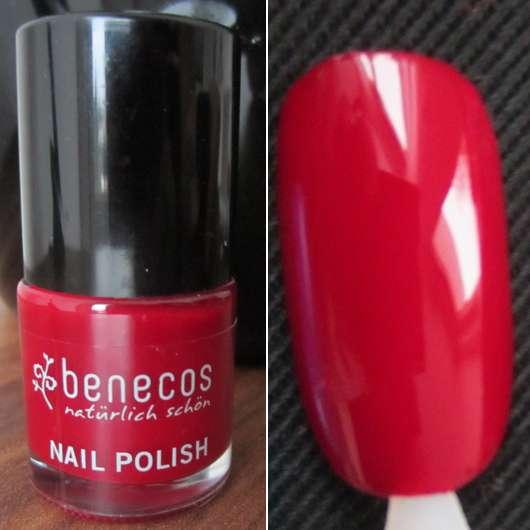 Test Nagellack Benecos Nail Polish Farbe Red Cherry Testbericht Von Kleinejana