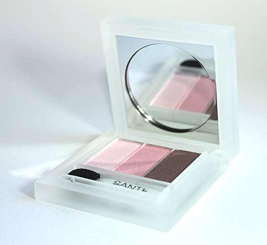 SANTE Naturkosmetik Eyeshadow Trio, Farbe: 1 Rose