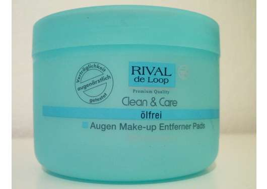 Rival de Loop Clean & Care Augen Make-up Entferner Pads (ölfrei)