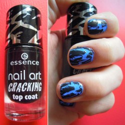 Produktbild zu essence nail art cracking top coat – Farbe: 01 crack me! black