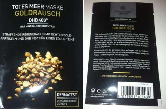 DermaSel Exklusiv Totes Meer Maske Goldrausch