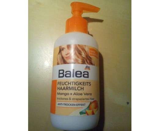 test leave in produkt balea feuchtigkeits haarmilch mango aloe vera testbericht von floower. Black Bedroom Furniture Sets. Home Design Ideas