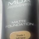MUA Makeup Academy Matte Foundation, Nuance: 1 Soft Sand