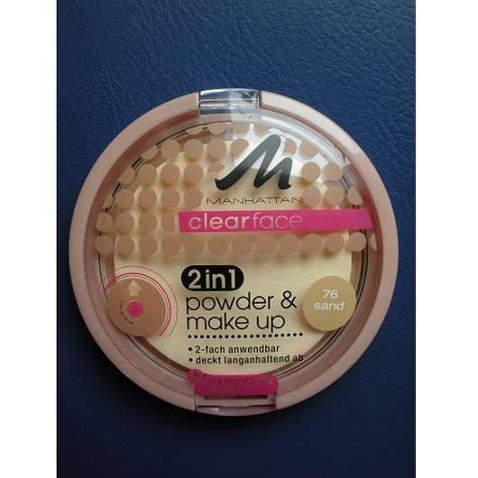 MANHATTAN CLEARFACE 2in1 powder & make-up, Farbe: 76 sand
