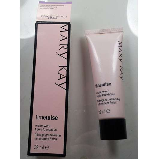 test foundation mary kay timewise matte wear liquid foundation nuance ivory 1. Black Bedroom Furniture Sets. Home Design Ideas