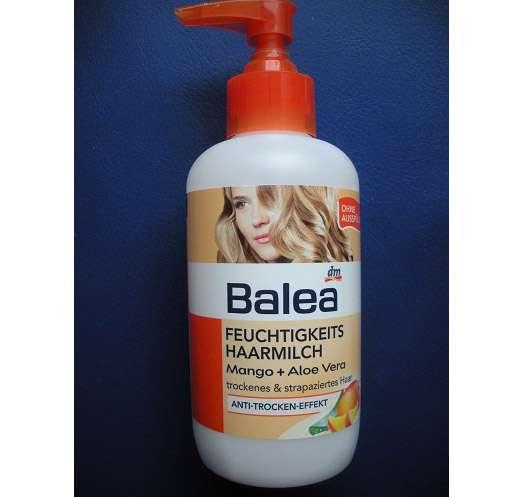test leave in produkt balea feuchtigkeits haarmilch mango aloe vera testbericht von annalena. Black Bedroom Furniture Sets. Home Design Ideas