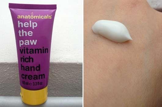 anatomicals help the paw vitamin rich hand cream