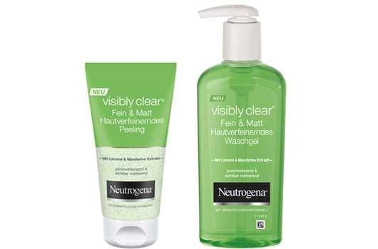Neutrogena® visibly clear® – Reinigungsserie Fein & Matt