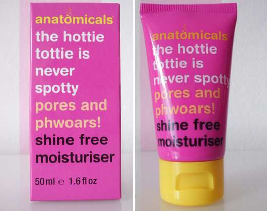 anatomicals the hottie tottie is never spotty pores and phwoars shine free moisturiser
