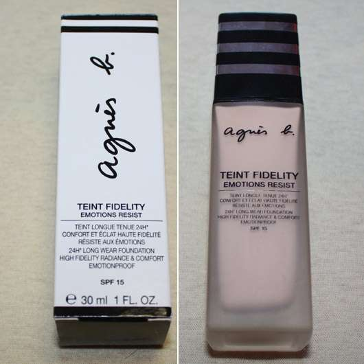 agnès b. Teint Fidelity Emotions Resist 24h Langanhaltendes Make-up, Nunace: 10 beige naturel