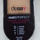 debby Mat&Perfect Cream To Powder Foundation, Nuance: 01