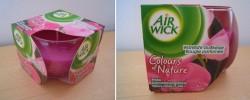 Produktbild zu Air Wick Colours of Nature Wohlfühl-Duftkerze Pinke Schmetterlingsblüte