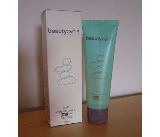 beautycycle earth restoring balance night gel moisturiser