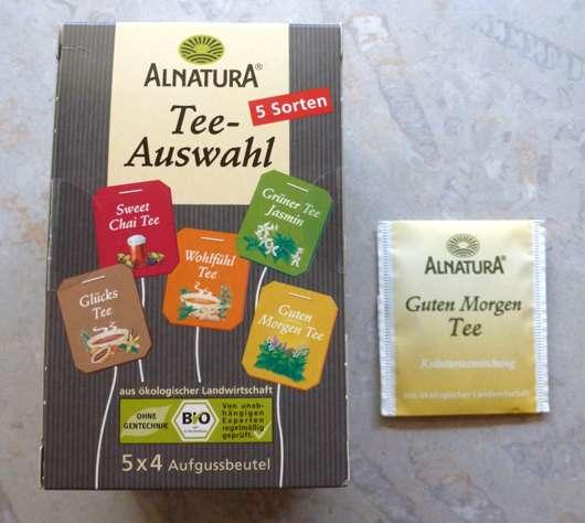 Test Wellness Tee Alnatura Teeauswahl Guten Morgen Tee