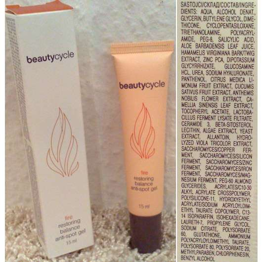 <strong>beautycycle fire</strong> restoring balance anti-spot gel
