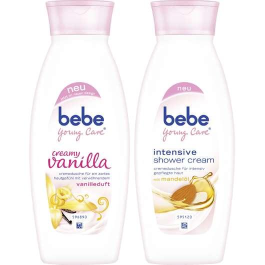 bebe Young Care creamy vanilla und intensive shower cream
