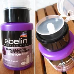 Produktbild zu ebelin Nagellackentferner acetonfrei mit Biotin und Arganöl