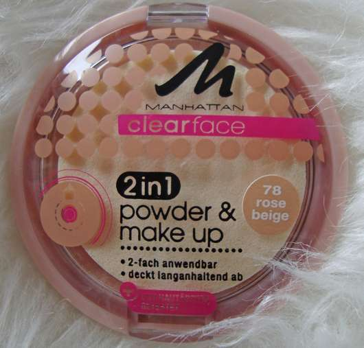 <strong>MANHATTAN CLEARFACE</strong> 2in1 powder & make-up - Farbe: 78 Rose Beige