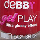 debby gelPLAY nail polish, Farbe: 10 red carpet