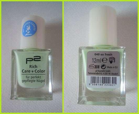 p2 Rich Care + Color, Farbe: 040 so fresh