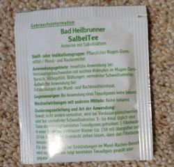 Produktbild zu Bad Heilbrunner Salbei Tee