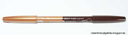 essence 2in1 kajal pencil, Farbe: 14 toffee & sweets
